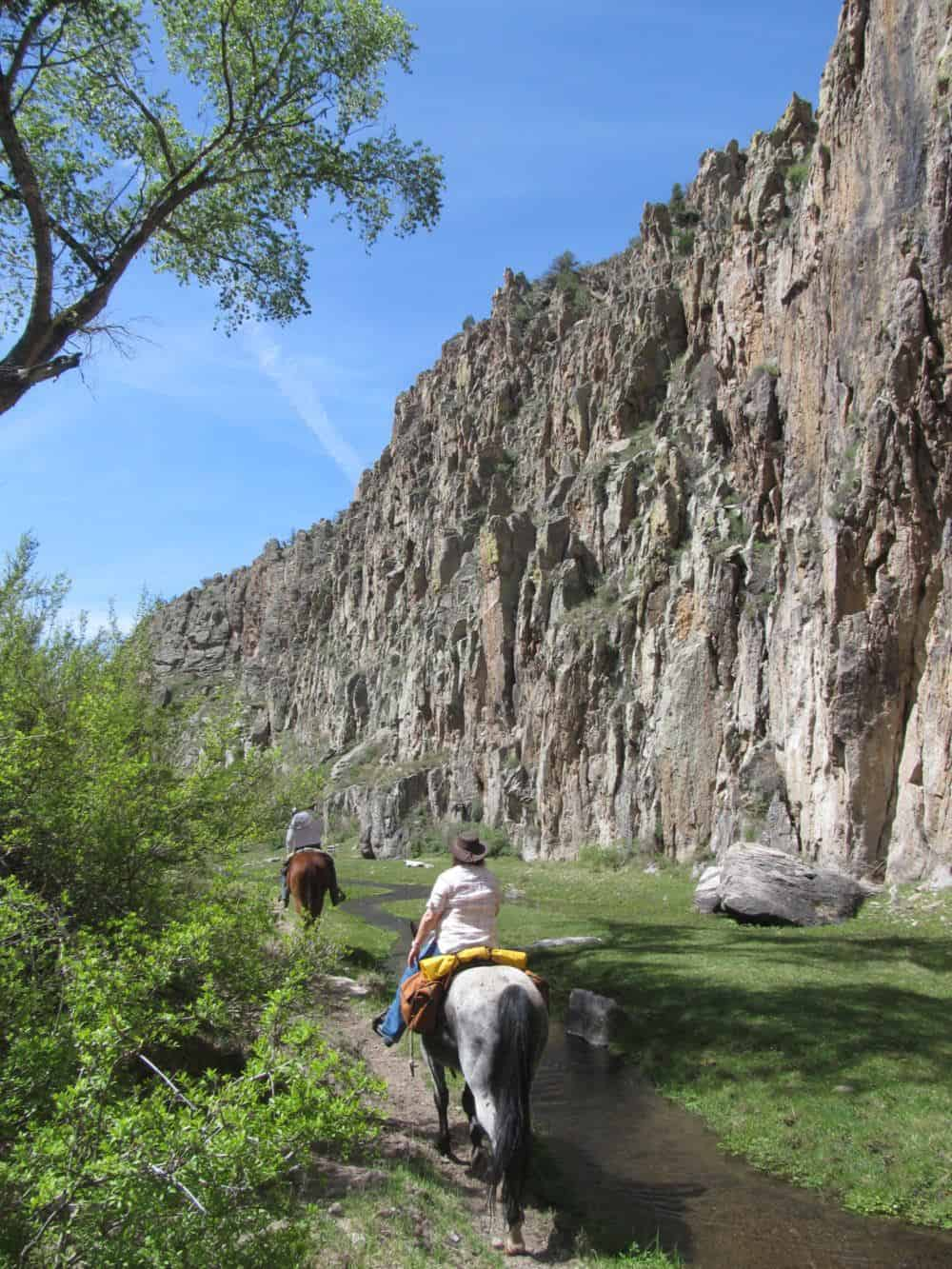 New Mexico Horseback Riding through Taylor Creek Canyon at Geronimo Trail Guest Ranch, Trail Riding, New Mexico