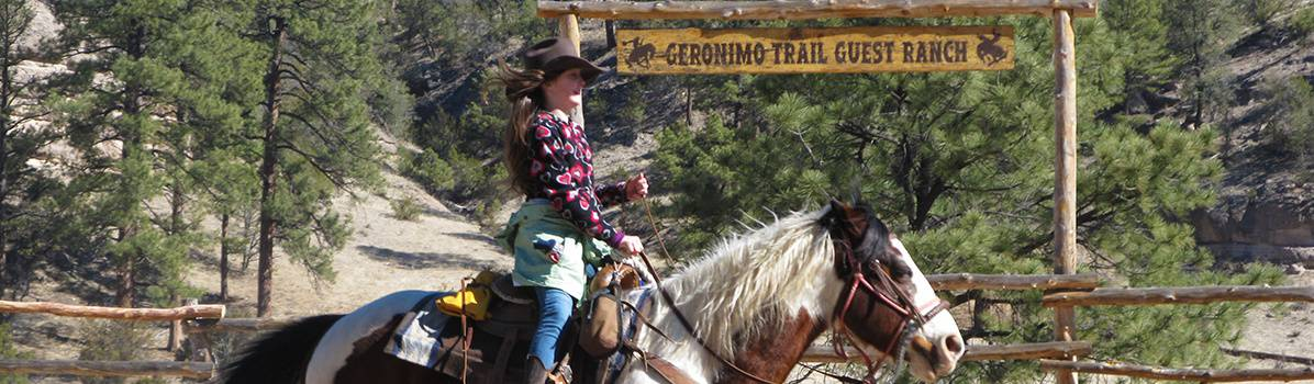 Geronimo Trail Guest Ranch, Horseback Riding is included with our New Mexico dude ranch vacations