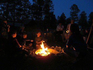 Activities, Campfire, S'mores, Geronimo Trail Guest Ranch, New Mexico, Families, Outdoor Adventures