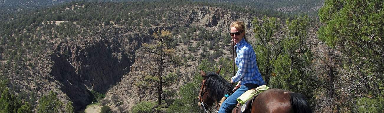 Trail Riding in the Gila National Forest, Geronimo Trail Guest Ranch, New Mexico, Couples & Solo Travelers, Horseback Riding